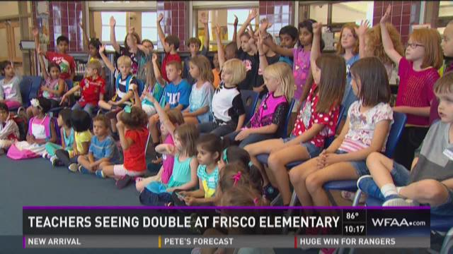 Teachers seeing double at Frisco elementary