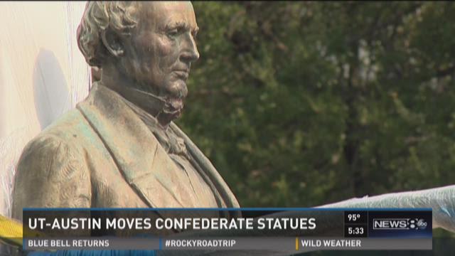 UT-Austin moves Confederate statues