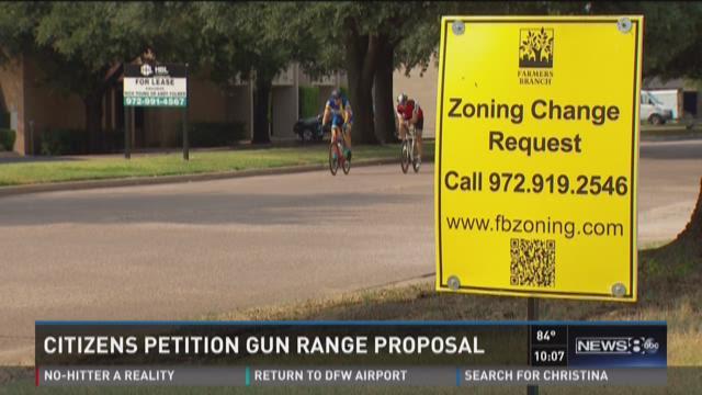 Citizens petition proposed gun range