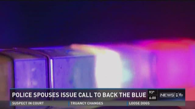 Police spouse issues call to back the blue