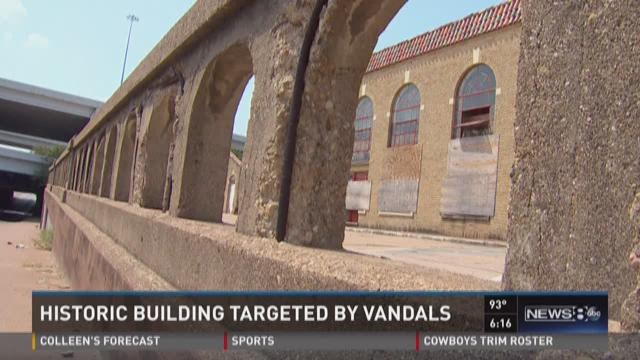 Historic building targeted by vandals