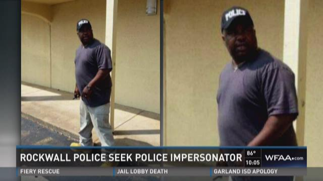 Police impersonator sought in Rockwall