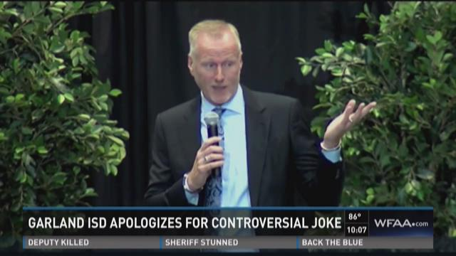 Garland schools chief apologizes