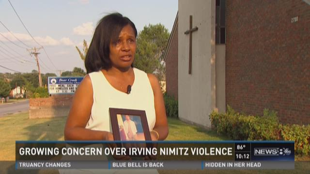 Growing concern over Irving Nimitz violence