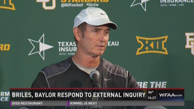 Briles, Baylor respond to inquiry