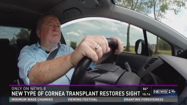 Cornea transplant restores sight