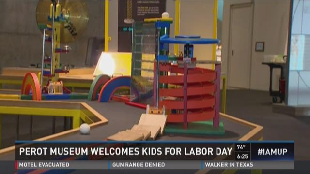 Perot Museum welcomes kids for Labor Day