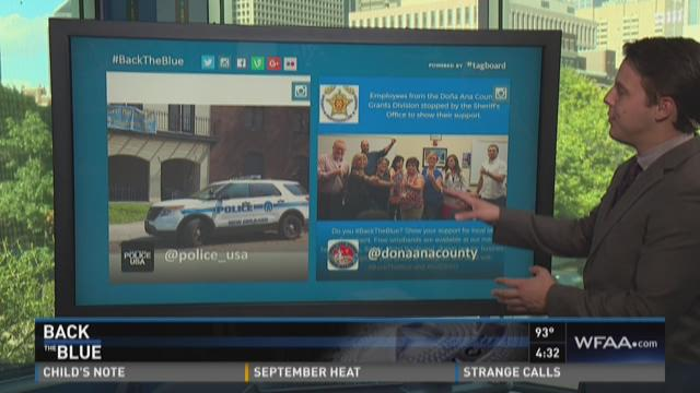 Social media encourages support for police