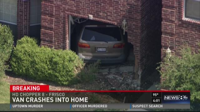 Van crashed into Frisco home