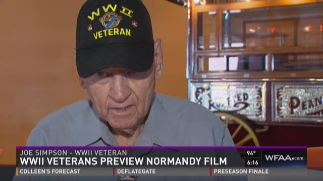 WWII vets preview Normandy film