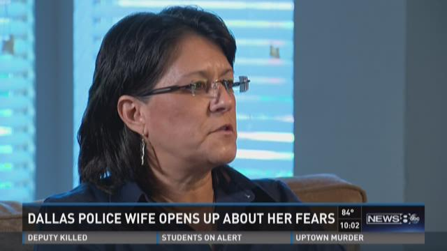 Dallas Police wife opens up about her fears