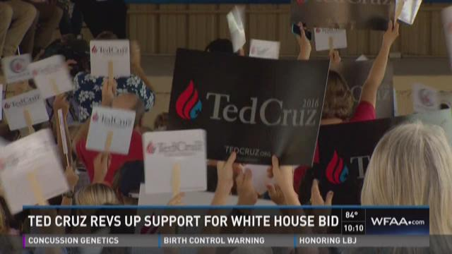 Ted Cruz revs up support for White House bid in Texas