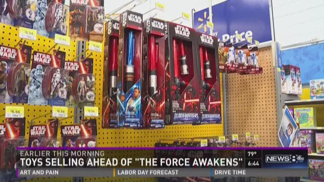 Toys selling ahead of 'The Force Awakens'