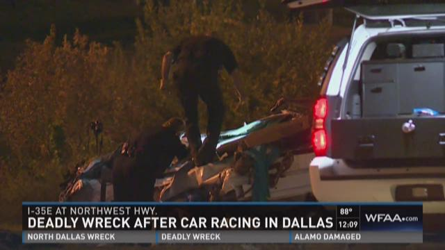 Deadly wreck after car racing in Dallas