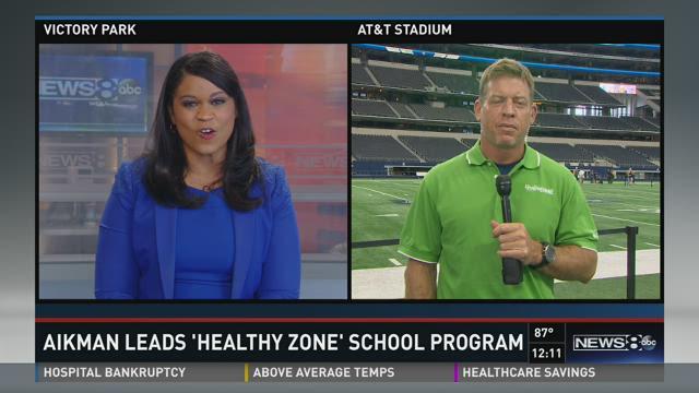 Troy Aikman talks about 'Healthy Zone School' program
