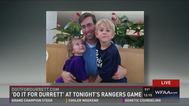 'Do it for Durrett' at tonight's Rangers game