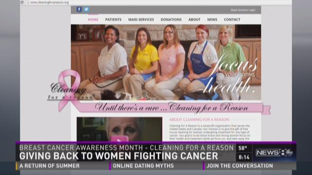 Cleaning for a Reason: Giving back to women fighting cancer