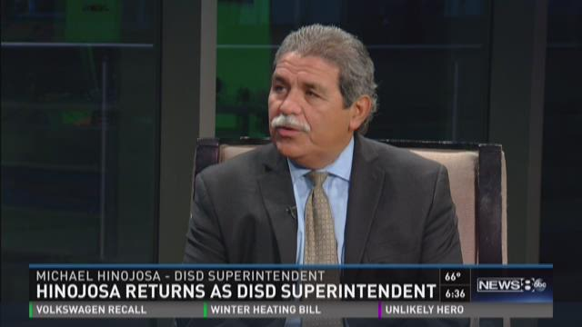 DISD Superintendent Hinojosa speaks to News 8