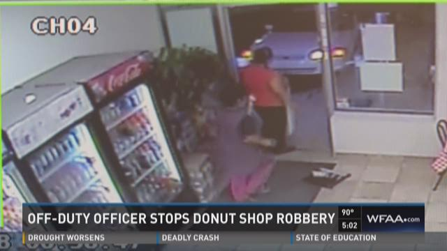 Off-duty officer stops donut shop robbery