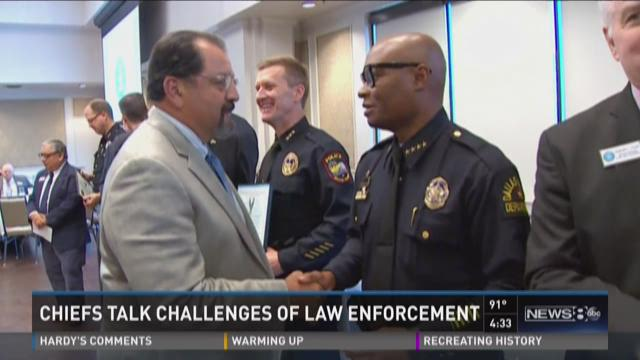 Local police chiefs discuss challenges of law enforcement