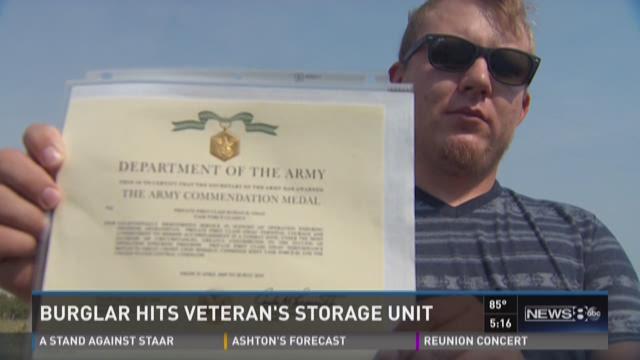 Burglar hits veteran's storage unit