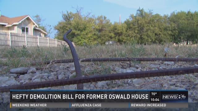 Hefty demolition bill for former Oswald house