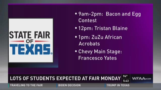Lots of students expected at State Fair Monday