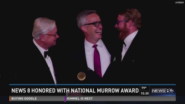 News 8 honored with National Murrow award