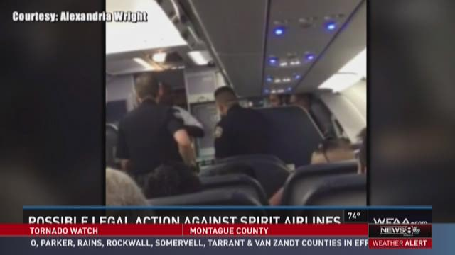 Possible legal action against Spirit Airlines