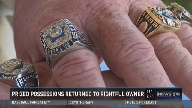 Roger Benefield's six championship rings